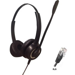 Aria Black Rj9 Binaural Noise Cancelling Headset