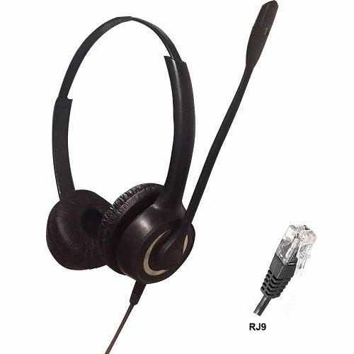 ARIA Black RJ9 Binaural Noise Cancelling Headset