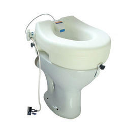 Raised Toilet Seat Fitted With Hygiene Cleaner