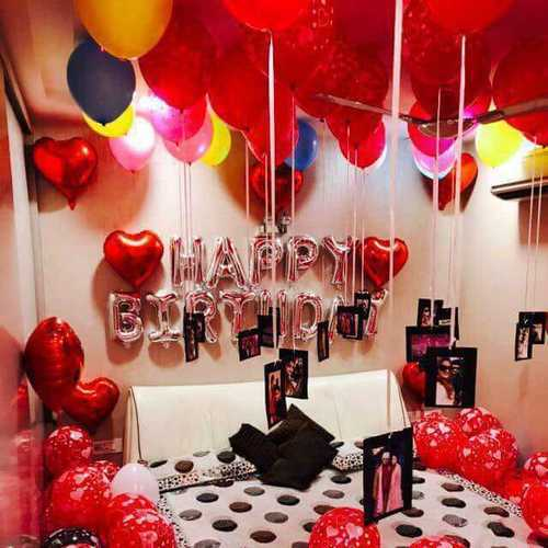 Balloon Decoration Service For Bed Bedroom Provider From New Delhi