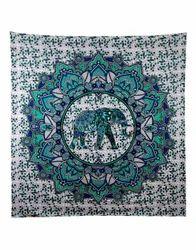Center Elephant Printed Tapestry