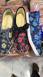 PU Casual Ladies Floral Shoes