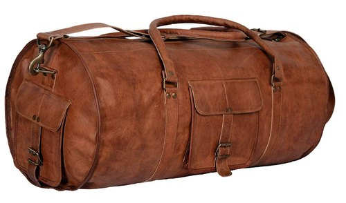 Brown Leather Duffel Bag e0ae00118687