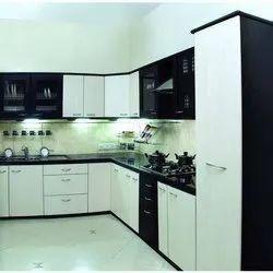 L Shape Modular Kitchen Designing Service, Warranty: 1-5 Years