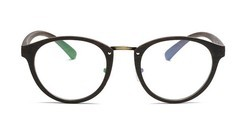 Female Round Polycarbonate With Metal High Quality Eye Wear Frame, Size: 136*44*147