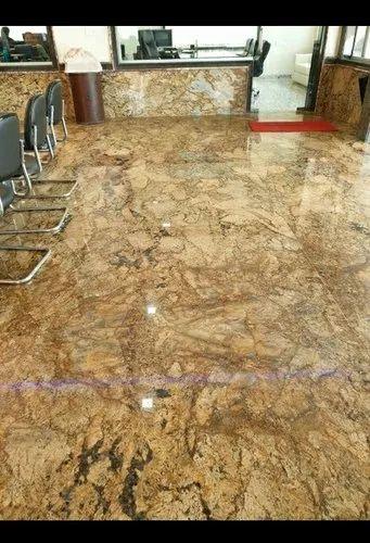 Polished Big Slab Alaska Gold Granite Slabs, Flooring Wall, Rs 180 /square  feet | ID: 22493677155