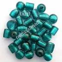 Silver Foil Mix Glass Beads Large Hole