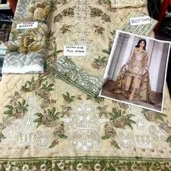 Georgette Straight Suit Cosmos Aayra Vol 5 Pakistani Party Wear Dresses, Wash Care: Handwash