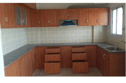 Brown Pvc Kitchen Cabinet