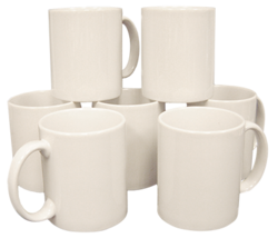 11ohz White Plain Mug