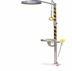 ABS Full Body Shower with Pedal Operated Eye Wash Station for Industrial Use
