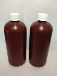 Screw Cap Brown Plastic Bottle