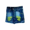 Designer Embroidered Kids Denim Shorts