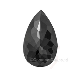 Fancy Shape Pear Cut Black Diamonds