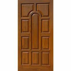 Brown Teak Wooden Door