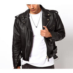 Mens Leather Full Sleeve Jacket