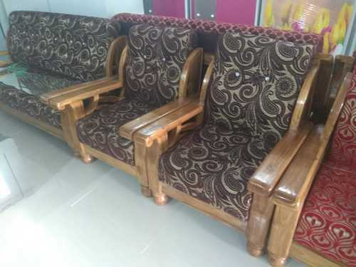 RAHUL WOOD WORKS SAGON SOFA SET, Rs 26500 /set(3+1+1) Rahul Wood Work | ID: 20041339848