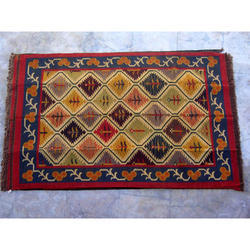 Home Decor Kilim Carpet Wool Jute Rug Handmade Area Rug Handloom Wool Jute Rug