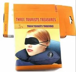 Three Tourists Treasures Pillow and Eye Mask