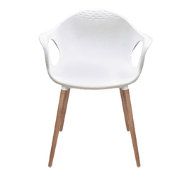 Moulded Cafeteria Chair - Ice Wood