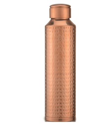 Pure Copper Hammered Water Bottle NJO-6711HAM
