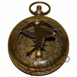 Brass Nautical Brown Antique Sundial Compass, Size/Diameter: Approx 2 Inch, As A Item