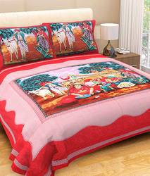 Village Scenery Bedsheet
