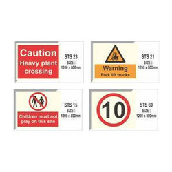 Aluminium PVC Site Safety Signage, Thickness: 4 - 10 Mm, Shape: Rectangle