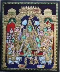 Ramar Pattabhishekam Tanjore Painting