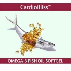 Omega 3 (Double Strength) Fish Oil Softgel Capsules, Grade: Food, Bliss Lifesciences LLP