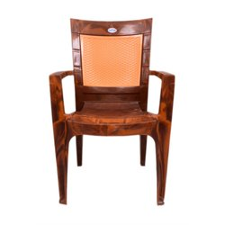 Shubh Brown Two Color Plastic Chair MODEL 2025, For Home,Office
