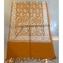 Yellow Embroidered Ladies Stole