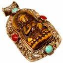 Buddha Card Pendant Tibetan Style Vintage Jewelry for Women