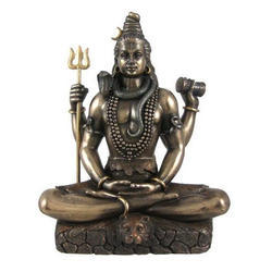 Brass K&T Shiva Sculpture, For Home, Temple, Packaging Type: Box