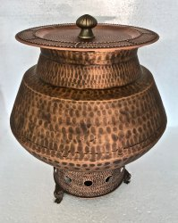 Smokey Copper Hammered Mughlai Degh Chafer