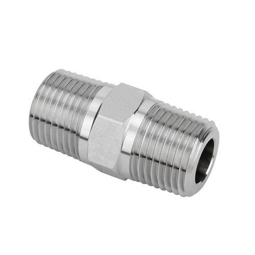 Stainless Steel Hex Nipples, Pneumatic Connections