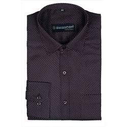 Mens Printed Black Designer Shirt