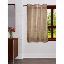 Striped Polyester Designer Bedroom Window Curtain