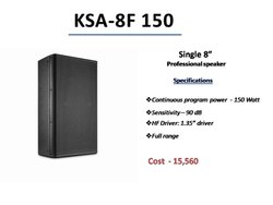 kanigs audio powered Single 8 inch Professional speaker, Model Name/Number: Ksa-8f 150