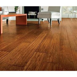 Brown Printed, Plain Laminated Hardwood Flooring, Thickness: 8 - 10mm