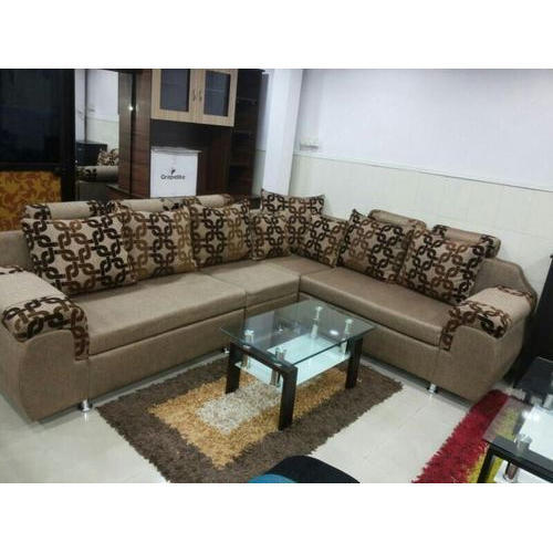 Living Room L Shape Sofa Set At Rs 29000 Set Thane Id 16552435630