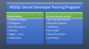 MSSQL Server Developer Training