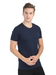 Mens Classic Cotton Round Neck T-shirt