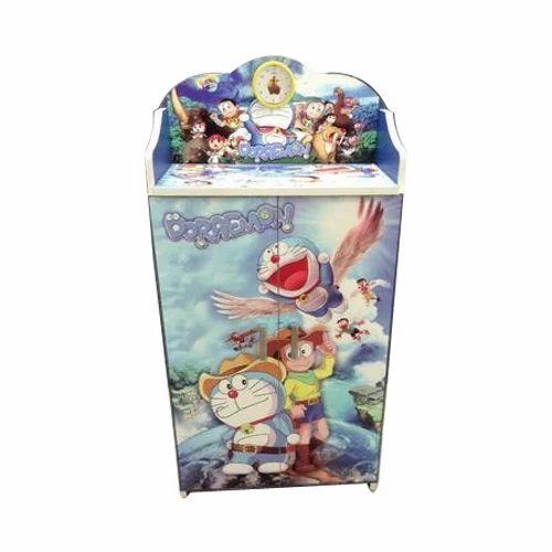 Kids Doraemon Printed Wooden Almirah Children Almirah Kids Almari