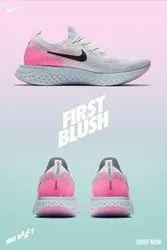Nike Plain Sneakers React Shoes