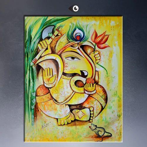 Lord Ganesha Canvas Painting