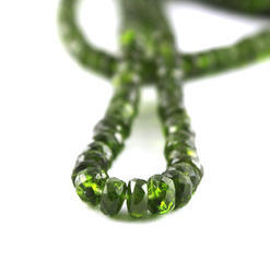 Chrome Diopside Roundel Faceted Beads