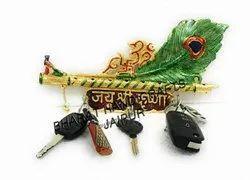 Gold Plated Meena Key Holder