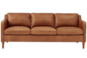 Leather And Wood Plain Leather Sofa Lthso-014