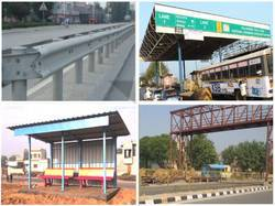 METAL BEAM CRUSH BARRIER, TOOL PLAZA STRUCTURE, BUS SHELTERS, FOOT OVER BRIDGE
